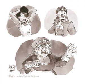 Gilles Abier - Mini Ludvin - trio de portrait
